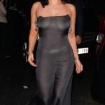 Lady Gaga seen leaving L'Archiduc Jazz club in a see-through dress in Brussels