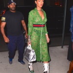 Rihanna Frees The Nipple in Stunning Gucci Sheer Lace Dress while out in NYC