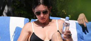 Courteney Cox bikini Miami beach