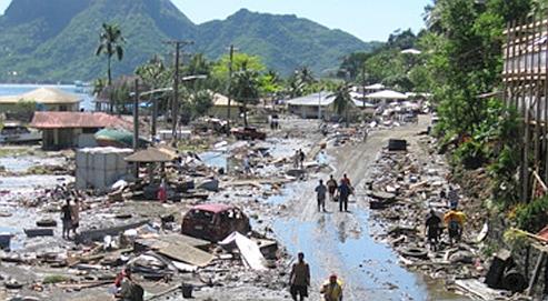 Tsunami Samoa - Tremblement de terre - Drame