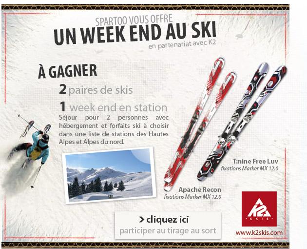 spartoo - concours sejour ski