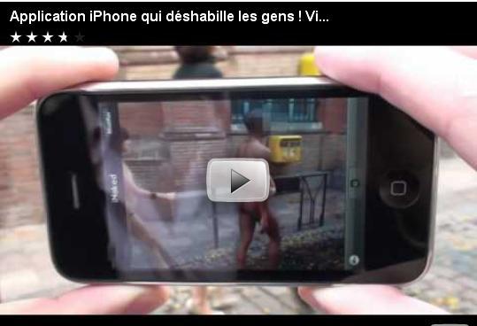 application iphone qui met les gens à nu