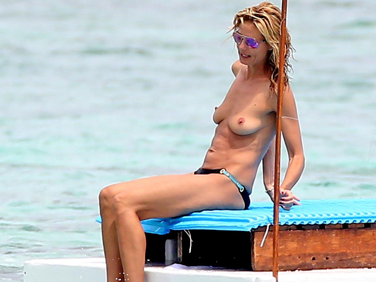 Heidi klum goes topless cde fe enjoy