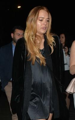 Lindsay Lohan at the Novikov barrestaurant in Mayfair, London, April 14-2015 009