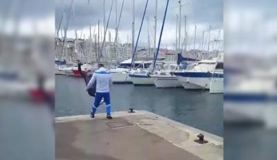 supporter om vs supporter psg vieux port