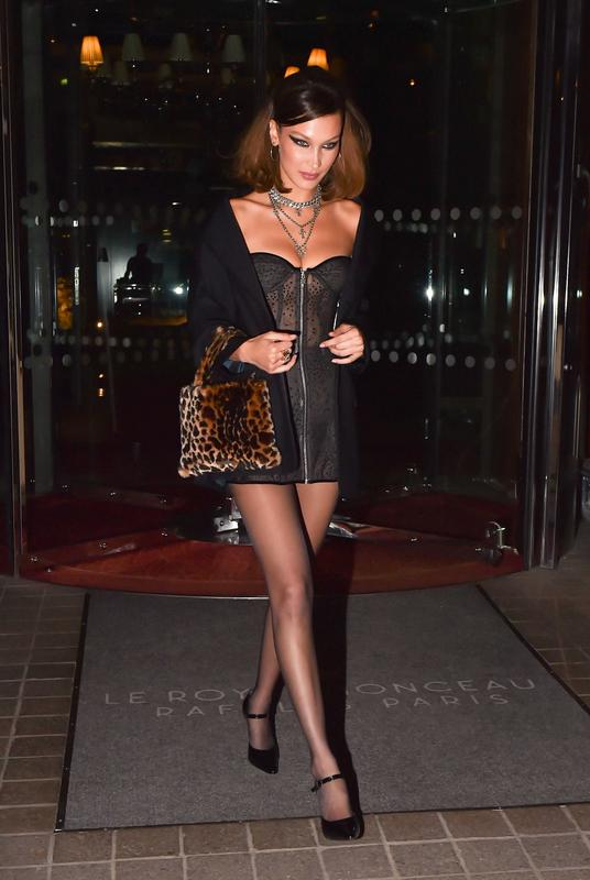 Bella Hadid Royal Monceau Hotel Paris
