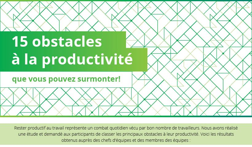 15 obstacles à la productivité
