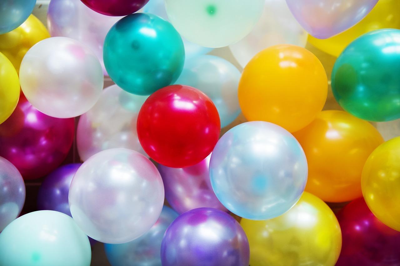 decoration - ballons gonflés à l'helium