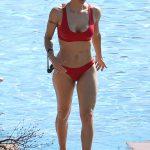 Michelle Hunziker bikini rouge 2