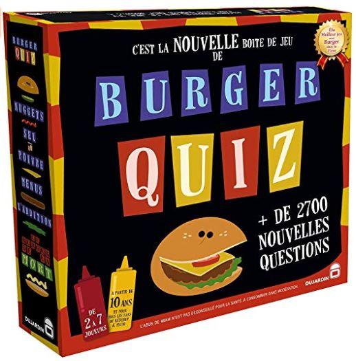 jeux de société adulte - burger quiz
