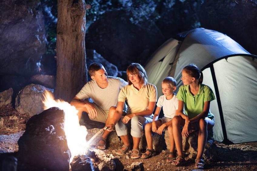 Camping autour du feu