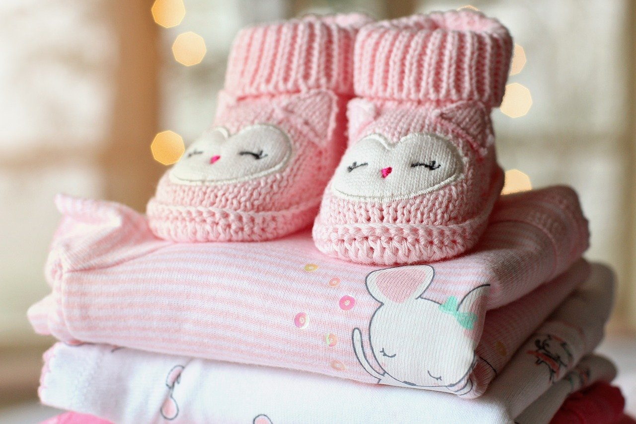 naissance fille chaussons baby