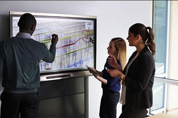 stand-up - meeting écran interactif
